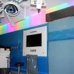 Amalie Krankenhaus in Hamburg: RGB LED Lichtband im Operationssaal über DMX angesteuert